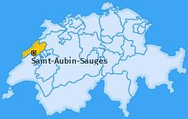 Karte von Saint-Aubin-Sauges
