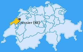 Karte von Cressier (NE)