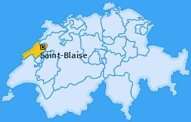 Karte von Saint-Blaise