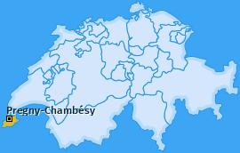 Karte von Pregny-Chambésy