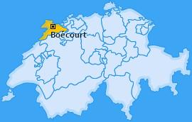 Karte von Boécourt
