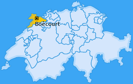 Karte Boécourt Boécourt