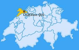 Karte von Châtillon (JU)