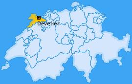 Karte von Develier
