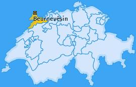 Karte von Beurnevésin