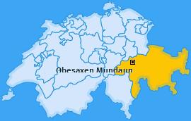 Karte von Obesaxen Mundaun