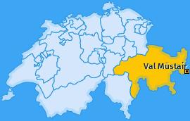 Karte von Val Müstair