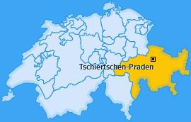 Karte von Tschiertschen-Praden