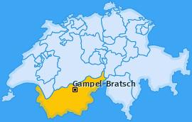 Karte von Gampel-Bratsch