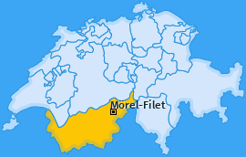 Karte von Mörel-Filet