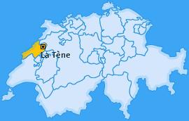 Karte von La Tène