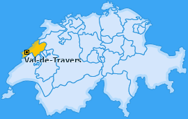 Karte Noiraigue Val-de-Travers