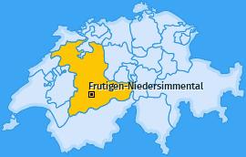 Verwaltungskreis Frutigen-Niedersimmental Landkarte