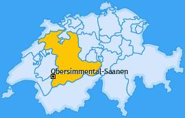 Verwaltungskreis Obersimmental-Saanen Landkarte