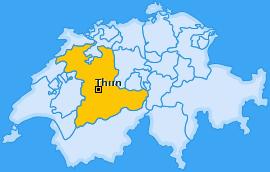 Verwaltungskreis Thun Landkarte