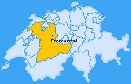 Verwaltungskreis Emmental Landkarte