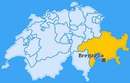 Karte von Bregaglia