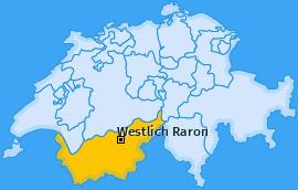 Bezirk Westlich Raron Landkarte