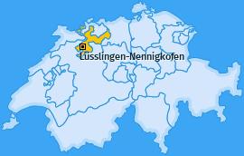 Karte von Lüsslingen-Nennigkofen