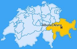 Karte von Albula/Alvra