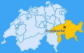 Karte von Domleschg