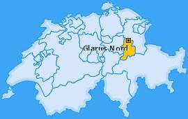 Karte von Glarus Nord