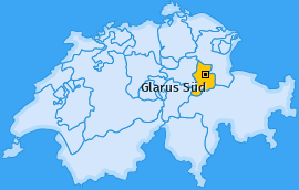 Karte Linthal Glarus Süd