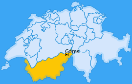 Karte von Goms