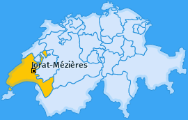 Karte von Mézières (VD)
