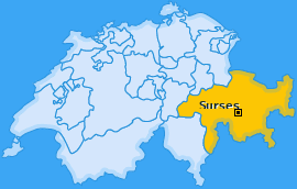 Karte von Savognin