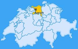 Karte von Aarau