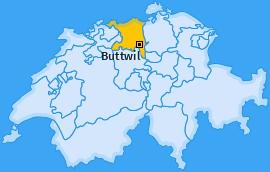 Karte von Buttwil