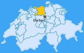 Karte von Dietwil