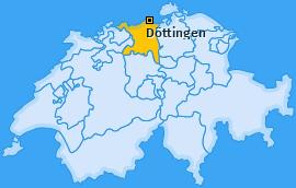 Karte von Döttingen