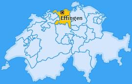 Karte von Effingen