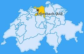 Karte von Erlinsbach (AG)