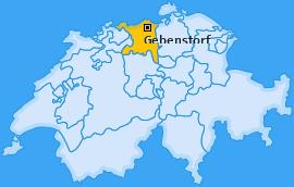 Karte von Gebenstorf