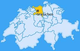 Karte von Gränichen