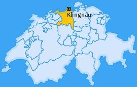 Karte von Klingnau