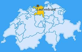 Karte von Laufenburg