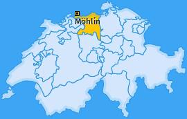 Karte von Möhlin