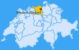 Karte von Niederrohrdorf