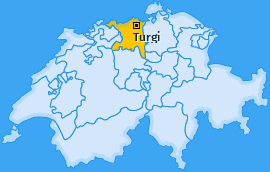 Karte von Turgi