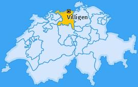 Karte von Villigen