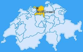 Karte von Wölflinswil