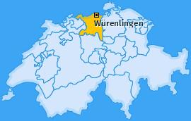Karte von Würenlingen
