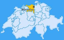 Karte von Würenlos