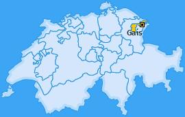 Karte von Gais