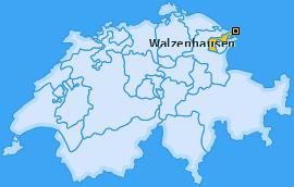Karte von Walzenhausen