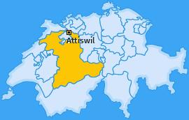 Karte von Attiswil